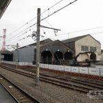 JR八王子駅 機関庫まわりのレール撤去の様子