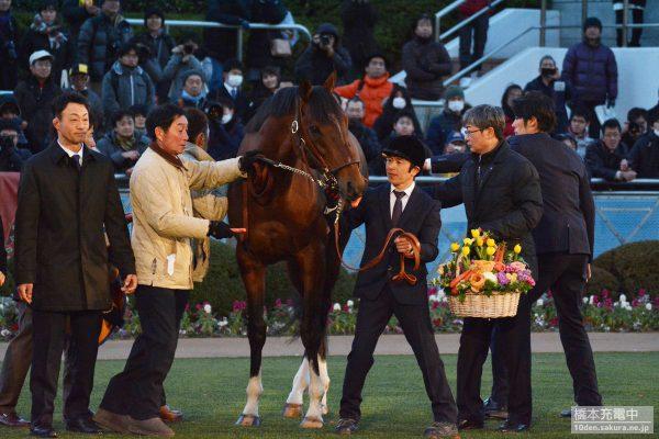 中山競馬場 モーリス引退式
