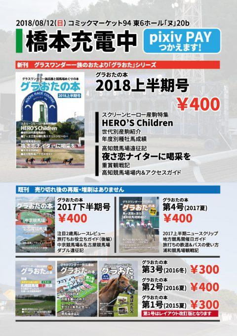 サークル橋本充電中 コミックマーケット94参加告知