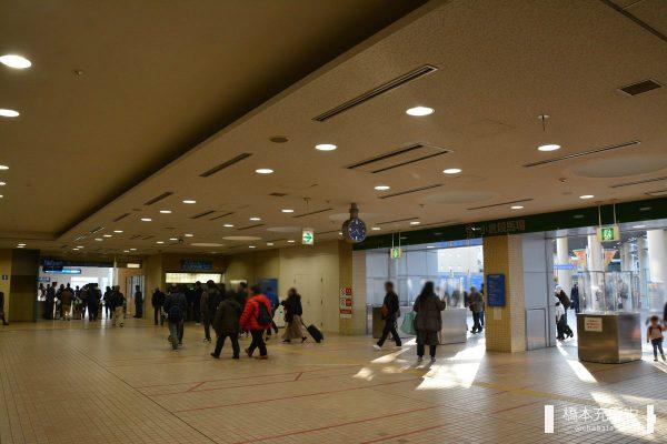 小倉競馬場の入場口と競馬場前駅の改札