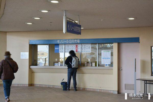 小倉競馬場内のモノレール切符売場