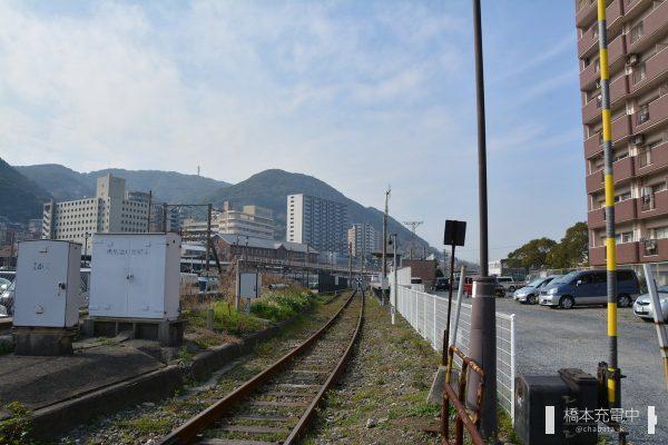 門司港レトロ観光列車 踏切