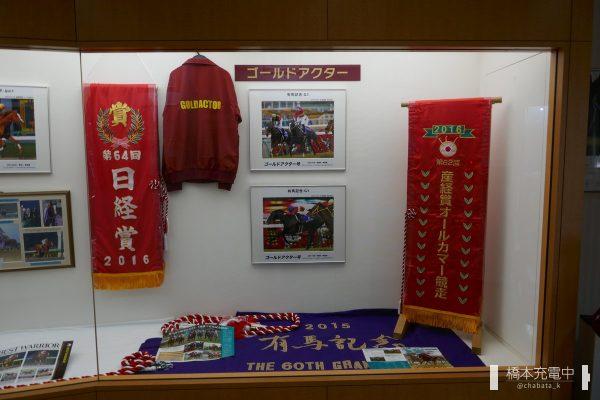 優駿記念館 ゴールドアクター号展示