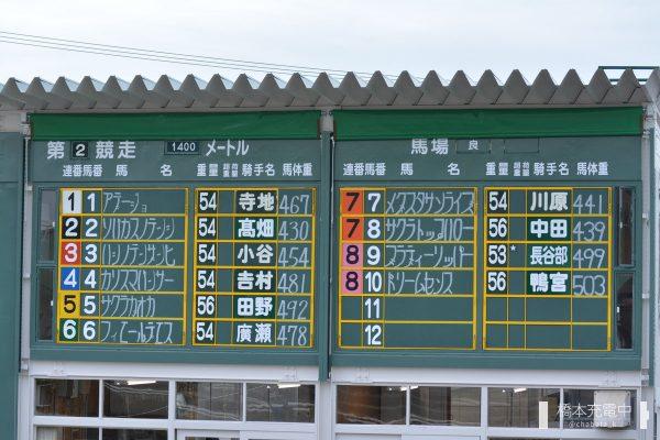 姫路競馬場 パドック 出馬表