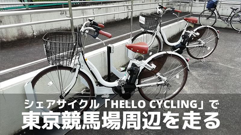 シェアサイクル「HELLO CYCLING」で東京競馬場周辺を走る